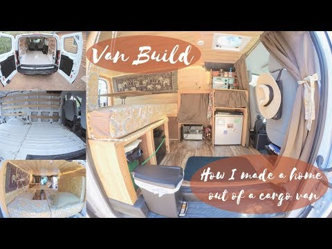 Van Build: Converting a Ford Transit cargo van into my off grid, solar-powered mobile home