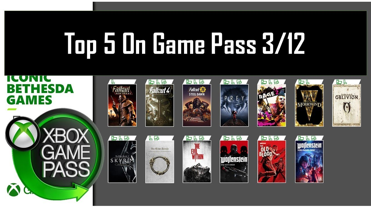 Download Top 5 Bethesda Games on Game Pass Right Now
