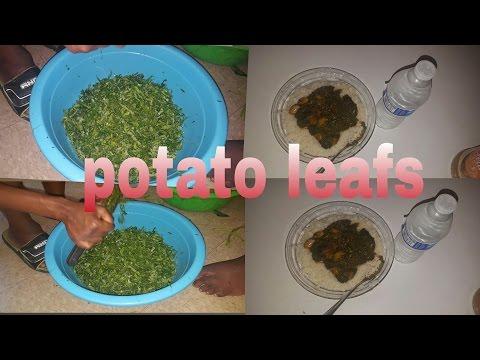 How to : cook sierra leone potato leafs soup | shesso pretty22
