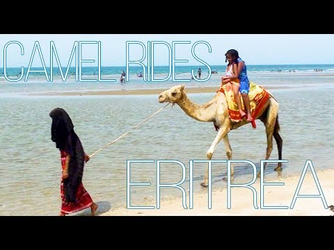 Riding a Camel in Eritrea
