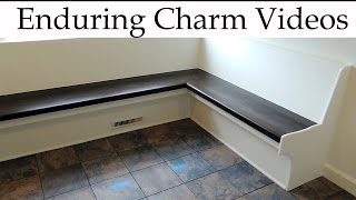 Built-in bench seating for a kitchen or other room can be a great way to add style and function while conserving space. In this video I
