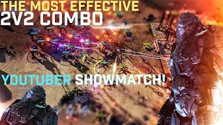 Halo Wars 2 - Using the Best 2v2 Combo against Team Respawn - Youtuber Showmatch Game 2