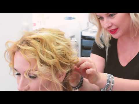 Прическа для тонких волос с накладными прядями