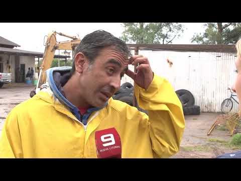El fuerte temporal que azotó Gualeguaychú