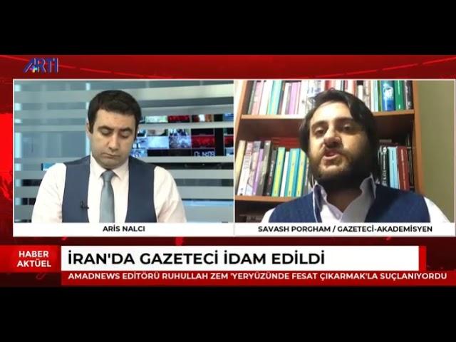 Ruhullah Zam idamı ve Cumhurbaşkanı Erdoğan'ın Bakü Şiirini Artı Tv'de Değerlendirdim