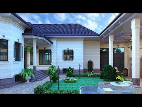 Одноэтажные дома с гаражом лучшие проекты фото