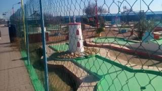 Южный берег Франции. Площадка для мини-гольфа.