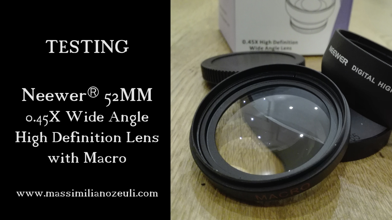 NeewerR 52MM 045X Wide Angle HD Lens With Macro For Nikon Cameras