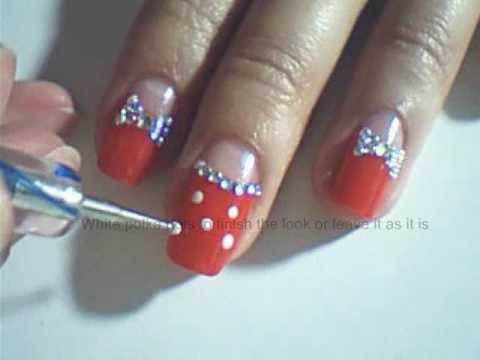 Cute Red Polka Dot Nail Art Youtube