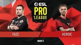 CS:GO - FaZe vs. Heroic [Mirage] Map 3 - Group B - ESL Pro League Season 9 Europe