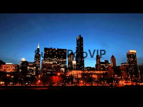 Landscape Shot Of Chicago Skyline, Viewed From Butler Fie...