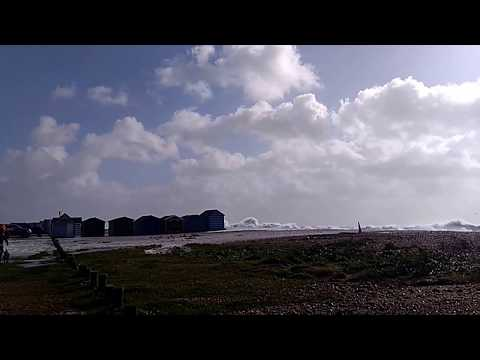 Hayling Island UK storm 21/10/2017