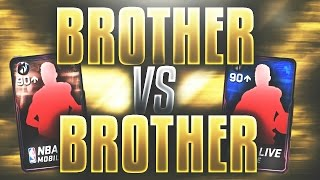 "NBA Live Mobile - BRO vs BRO PACK WAR! ""Playoff Edition""! 7 90+ Pulls! TONS OF ELITES! WHO WILL WIN?"