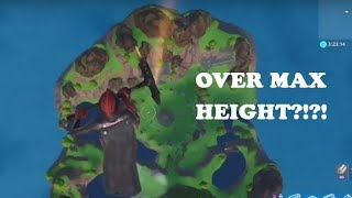 ABOVE THE MAX HEIGHT GLITCH IN CREATIVE MODE FORTNITE BATTLE ROYALE!