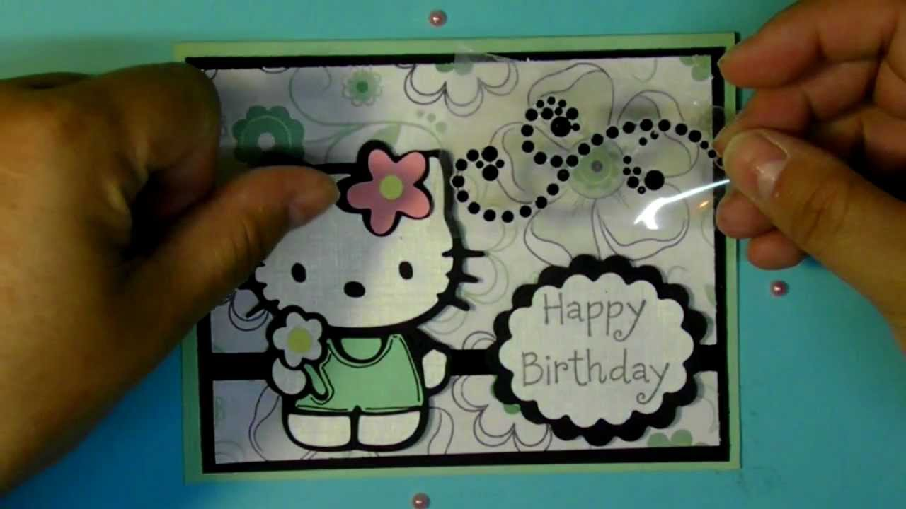 Cricut hello kitty happy birthday card hello kitty greetings cricut hello kitty happy birthday card hello kitty greetings cartridge youtube m4hsunfo