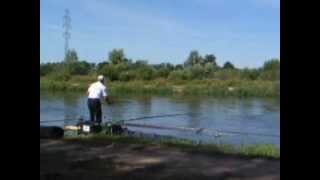 Piotr Lorenc nęci, Warta river Spławikowe Mistrzostwa Polski
