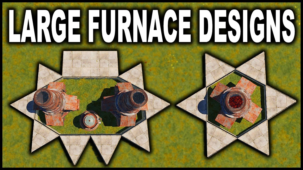 FURNACE BASE DESIGN IDEAS! - RUST BASE DESIGN 2020 - (FULL TUTORIAL)
