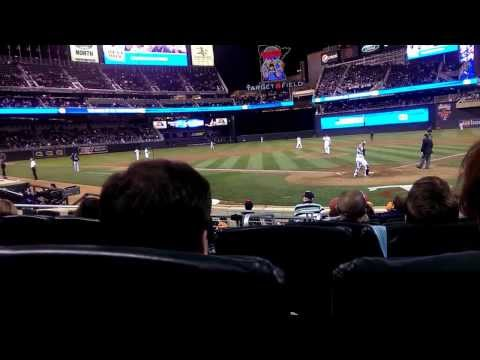 Awesome seats at Target Field. Tampa Bay@Twins 9/13