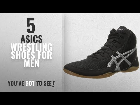 Top 10 Asics Wrestling Shoes [2018 ]: ASICS Men's Matflex 5 Wrestling Shoe, Black/Silver, 9 M US