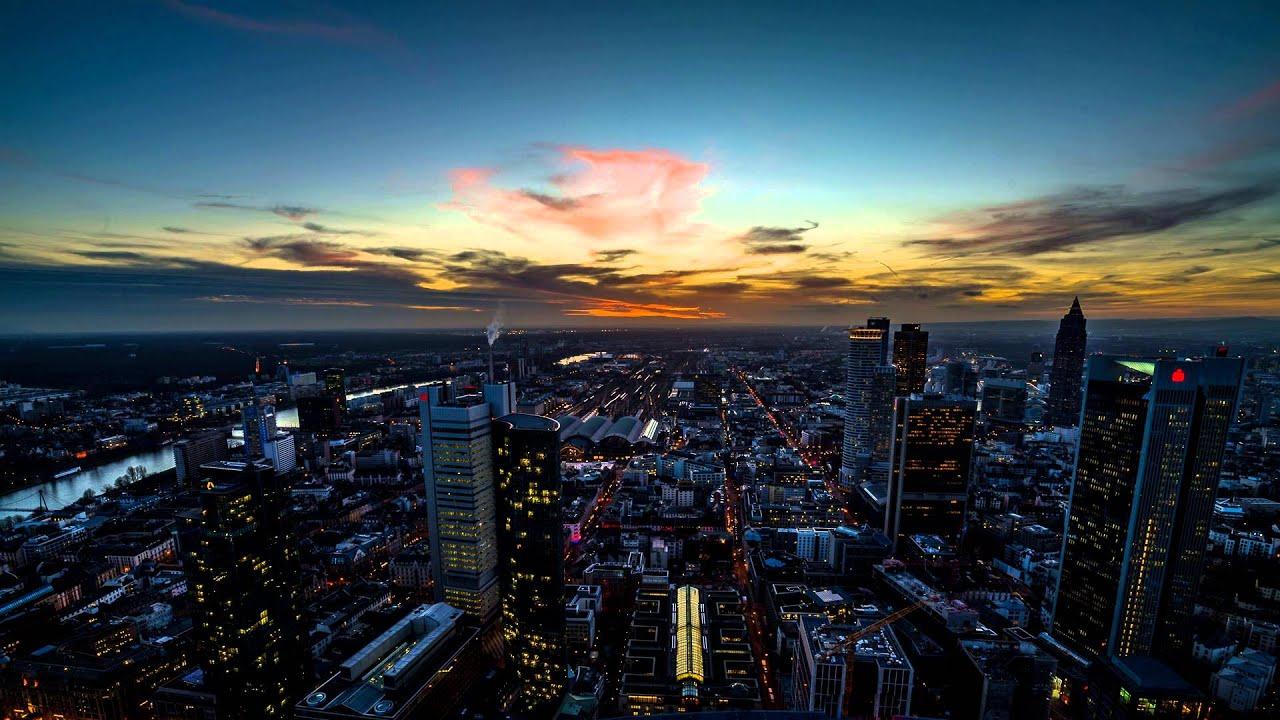 frankfurt maintower sunset timelapse 1080p 24fps youtube. Black Bedroom Furniture Sets. Home Design Ideas