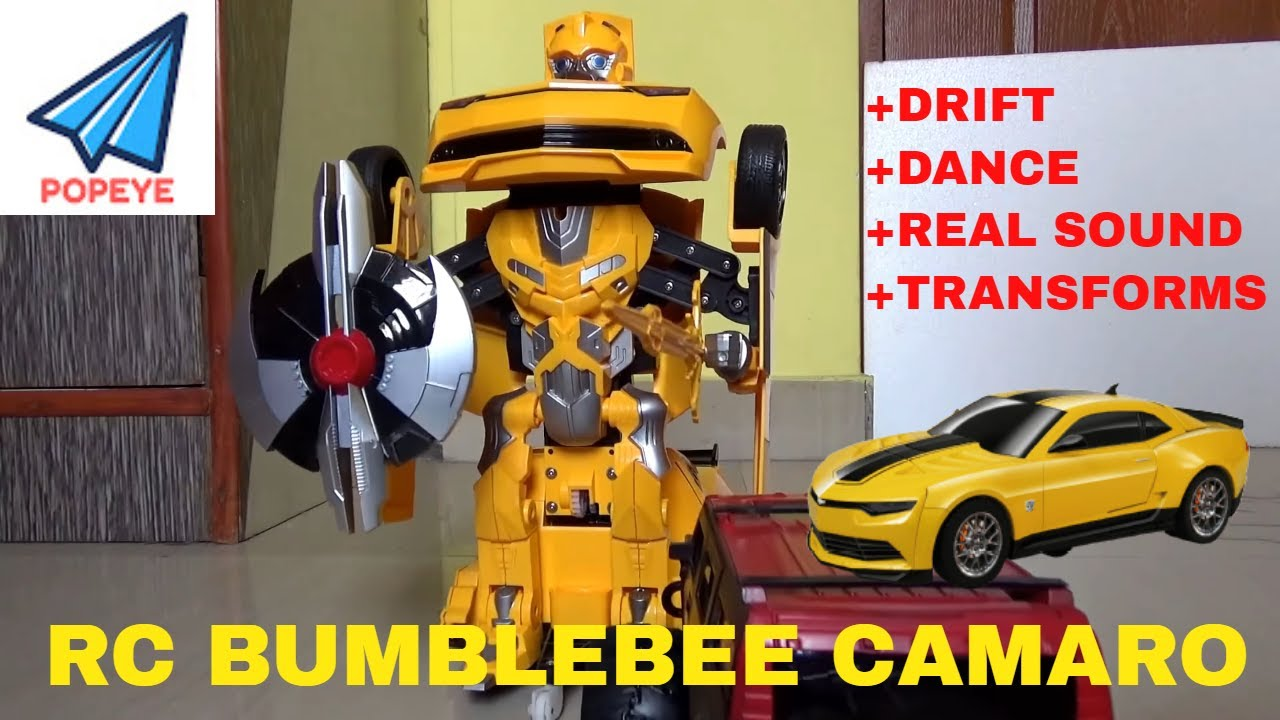 Bumblebee Transformer Rc Camaro Car Dance Drift Real Sound