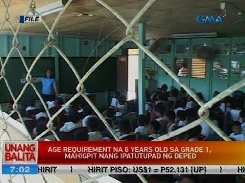 Age requirement na 6 years old sa grade 1, mahigpit nang ipatutupad ng DepEd