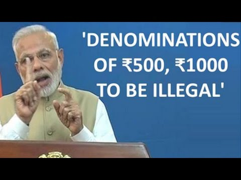 PM Modi Says Rs. 500 And Rs. 1,000 Notes Being Discontinued