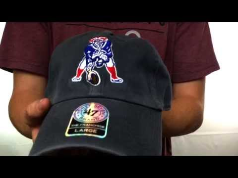 Patriots  NFL THROWBACK FRANCHISE  Navy Hat by Twins 47 Brand - YouTube 61e18a1f5