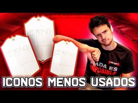 LOS 3 ICONOS MENOS USADOS DE FIFA 19!!