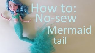 How to: Make a NO-SEW mermaid tail for your dolls (by EahBoy)