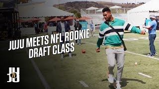 Interviewed the new rookies in the NFL! SUBSCRIBE and click the Bel...