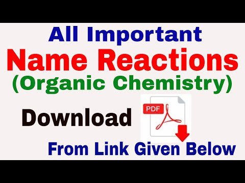 Important Name Reactions in Organic Chemistry || pdf download from chemistrypage.in