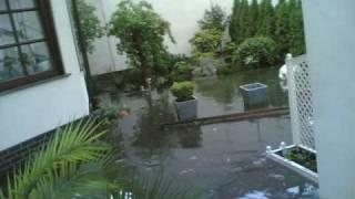 Überschwemmung Viernheim 30.06.2009