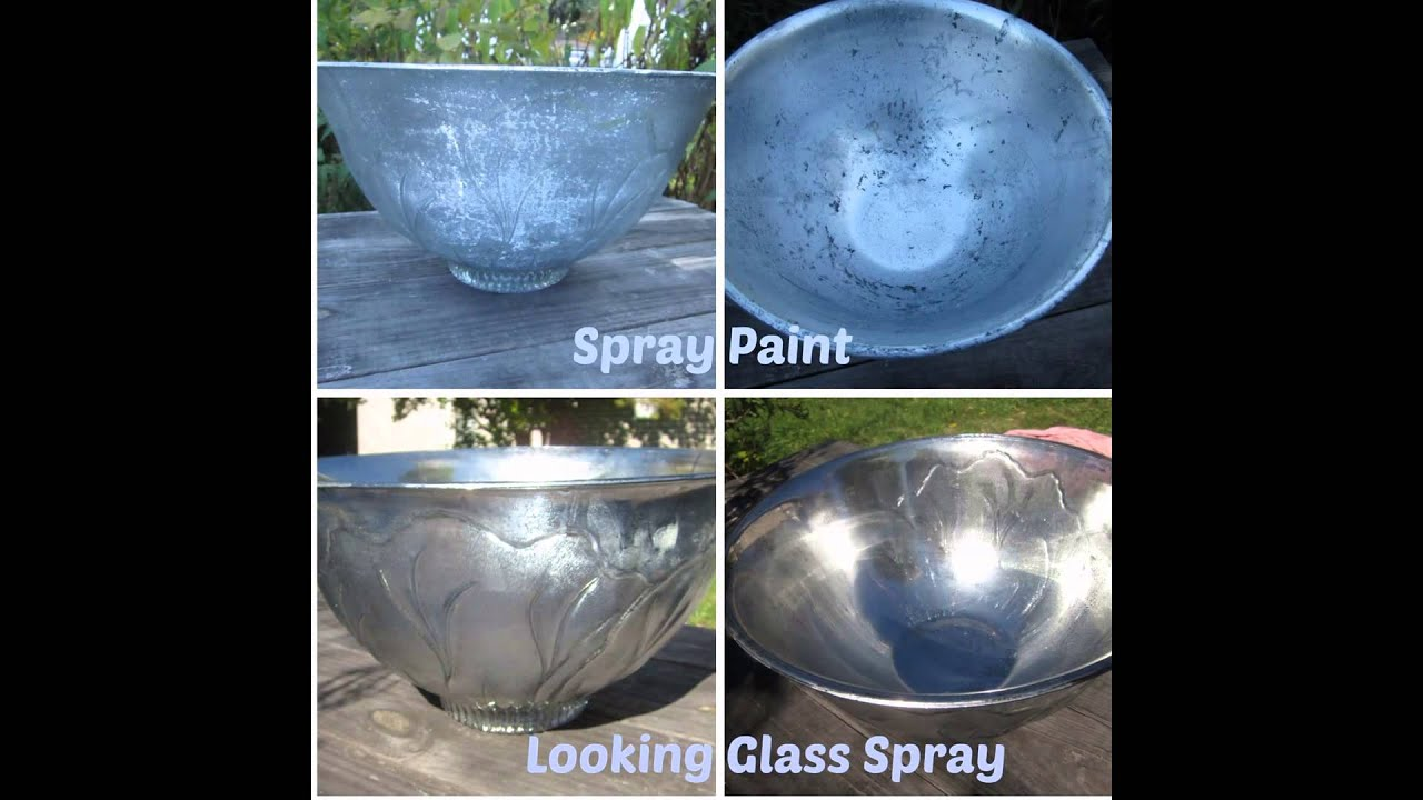 Mercury Glass Spray Painting Looking How To Dos And Don Ts Youtube