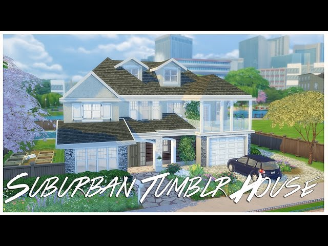 The Sims 4: House Build | Suburban Tumblr House | Part 1 + Q&A