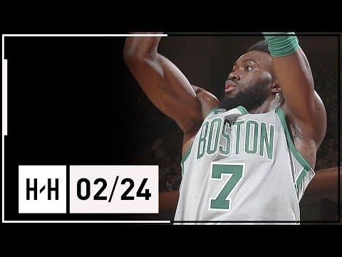 Jaylen Brown Full Highlights Celtics vs Knicks (2018.02.24) - 24 Points, SICK Dunks!