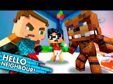 Adventure FREDDY KILLS The Neighbor! Hello Neighbor Vs FNAF (Minecraft Superheroes Roleplay)