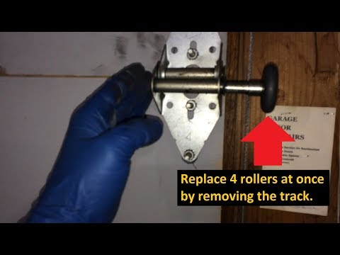 Quick Easy DIY Install Garage Door Rollers WITHOUT Bending Track Or Removing Hinges