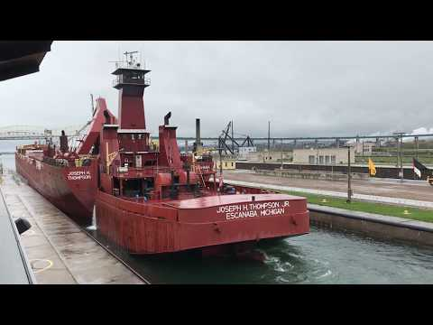 Great Lakes Tug and Barge Joseph H Thompson in the Soo Locks