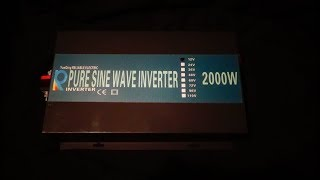 Reliable Power 2000w Pure sine inverter review pt2 of 3