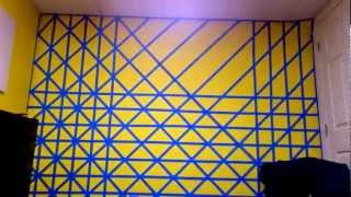 3d Cubes - Wall Painting Time Lapse