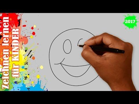 Smiley zeichnen in 50s – Zeichnen lernen für anfänger & kinder