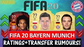 FIFA 20   BAYERN MUNICH PLAYER RATINGS!! FT. LEWANDOWSKI, SANE, NEUER ETC... (TRANSFER RUMOURS)