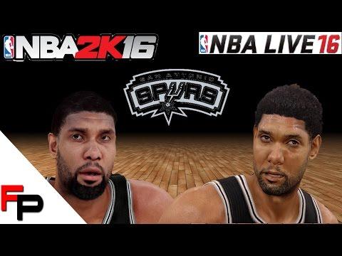 NBA 2K16 vs.  NBA Live 16 - San Antonio Spurs - Player Faces