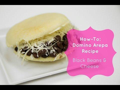 Domino Arepa Recipe- (Black Beans & Cheese Arepas