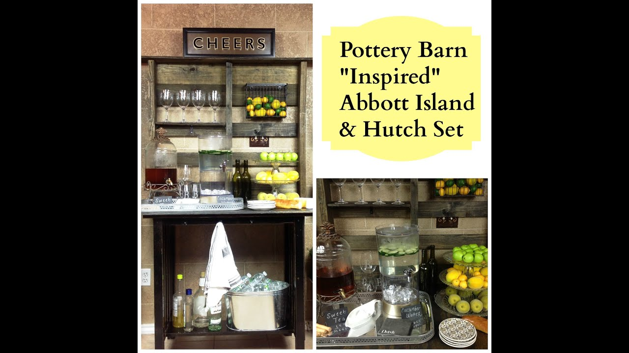 pottery barn kitchen hutch best pull down faucet new diy quotinspired quot abott island and