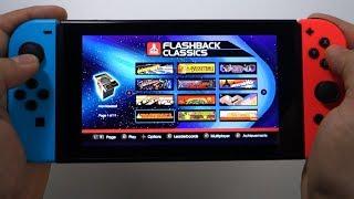 Atari Flashback Classics (testing in games) Nintendo Switch gameplay