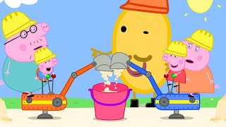 Peppa Pig Full Episodes | Peppa Pig and George Drive Real Diggers | Kids Videos