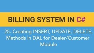 25. Het maken van FACTURATIE SYSTEEM in C#? Het creëren van ADD/UPDATE/DELETE Methode voor de Dealer/Klant-Module