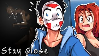 """WE MUST """"STAY CLOSE"""" TO SURVIVE! (CO-OP HORROR GAME WITH LIZKATZ)"""
